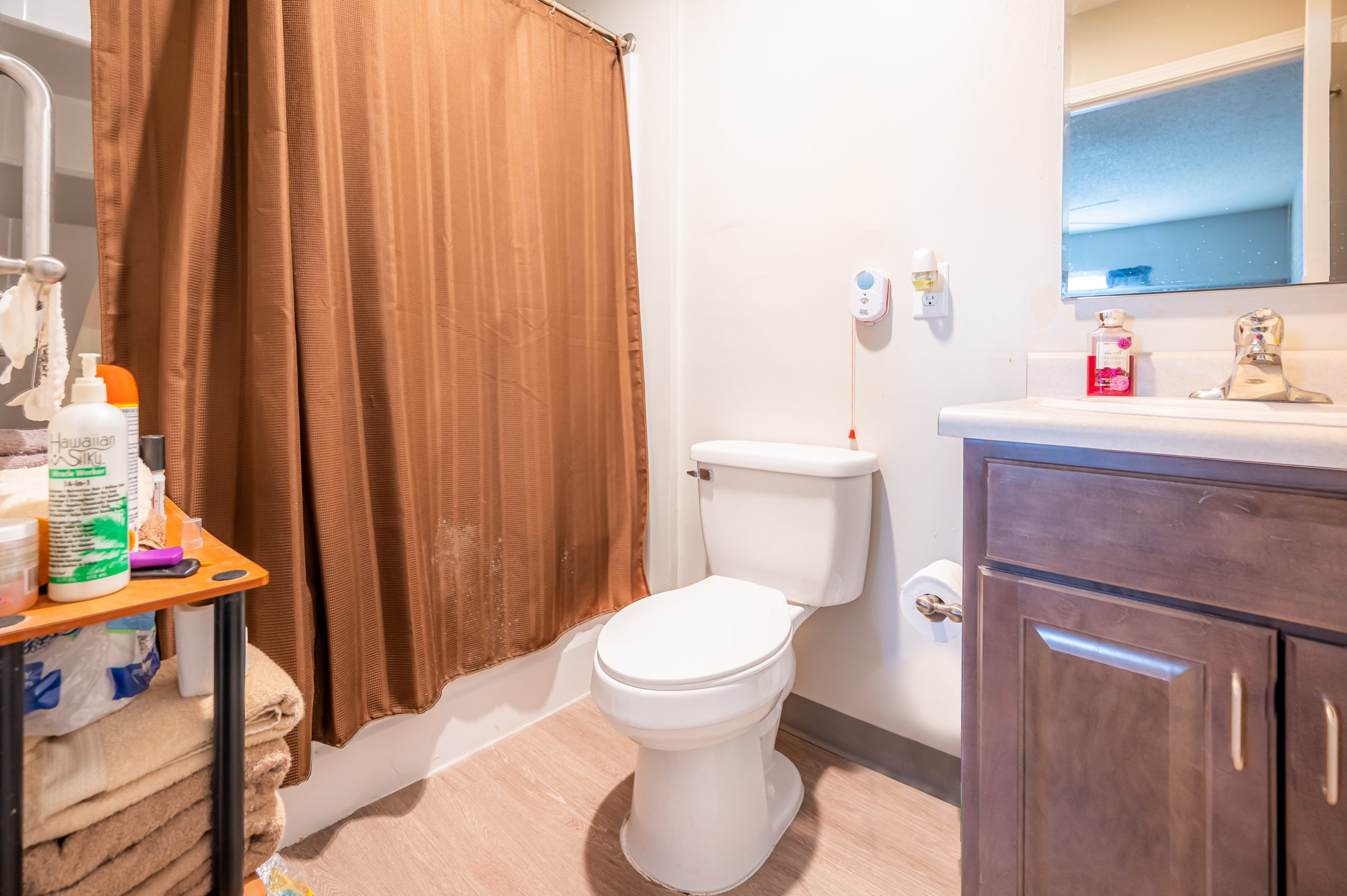 A bathroom in Gregg Court Apartments