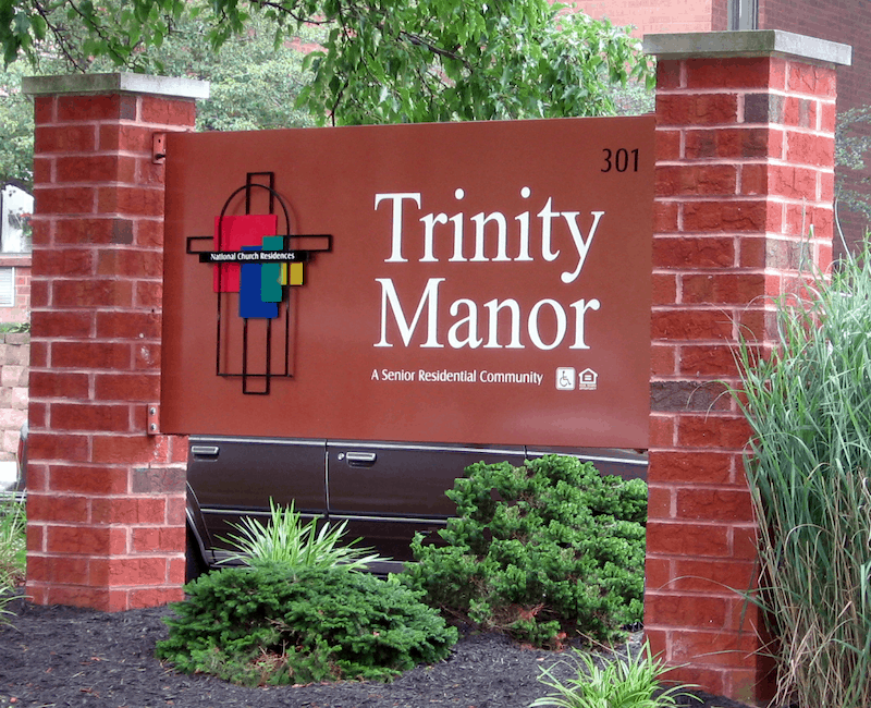 Trinity Manor sign